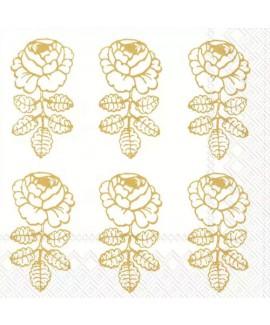 מפיות מרימקו- פרח זהב רקע לבן