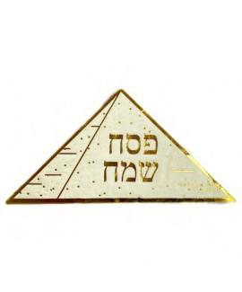 מפיות פירמידה עם הטבעה בזהב
