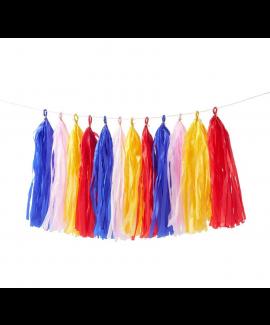 שרשרת טאסלים צבעונית - Meri Meri