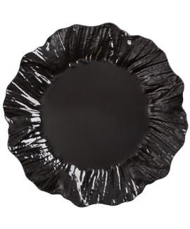 10 צלחות ג'ינג'ר גדולות שחורות