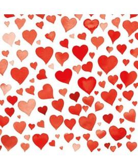 מפיות לבבות אדומים