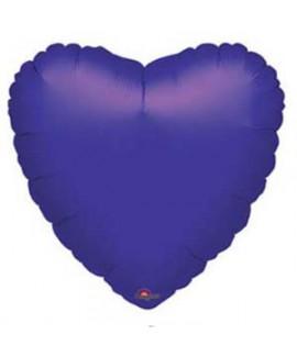 בלון אלומיניום לב סגול