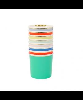 כוסות צבעוניות נמוכות - Meri Meri