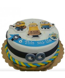 עוגת יום הולדת מניונים