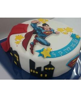 עוגת יום הולדת סופרמן