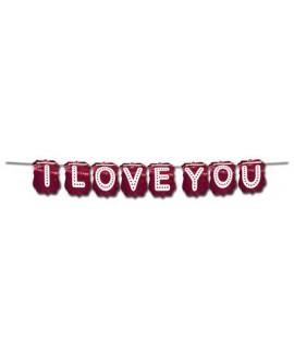 שרשרת אותיות I LOVE YOU