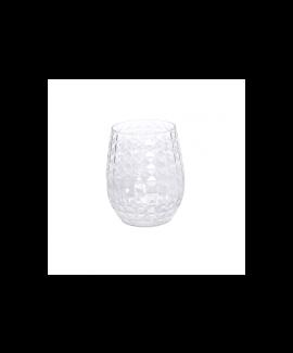 5 כוסות דיימונד שקופות מפלסטיק