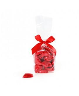מארז לבבות שוקולד אדומים