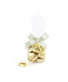 מארז לבבות שוקולד זהב