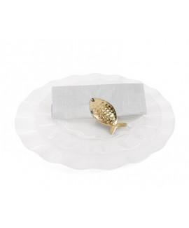 חבק למפית קליפס דג- זהב