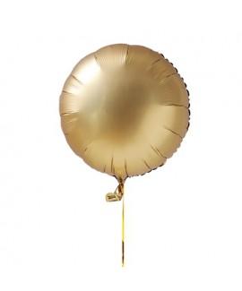 בלון הליום עיגול זהב כרום