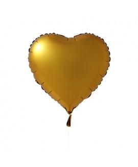 בלון הליום לב זהב כרום