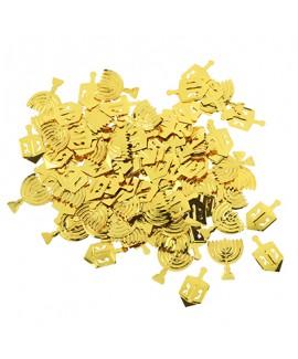 קונפטי חנוכה זהב