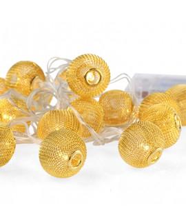 שרשרת נורות עיגולי זהב