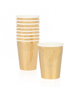 כוסות נייר זהב