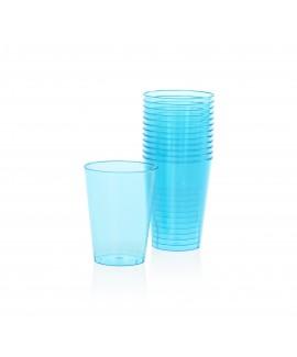 כוסות פלסטיק קשיח- תכלת