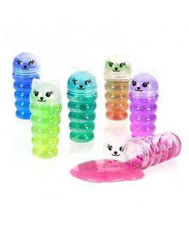 קופסת סליים צבעוני בצורת חתול