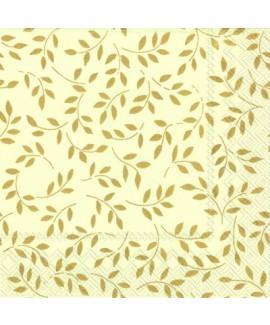 מפיות עלים קרם זהב