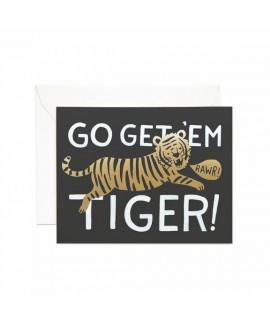 כרטיס ברכה יום הולדת - go get'em tiger