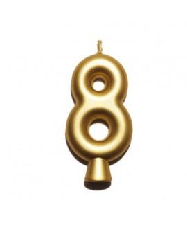 נר הספרה שמונה - זהב