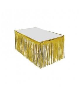 חצאית לשולחן פרנזים זהב