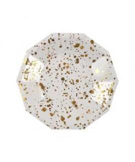צלחות זהב קטנות הטזות זהב - Meri Meri
