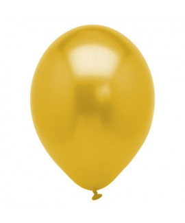 10 בלונים זהב מטאלי- ללא ניפוח