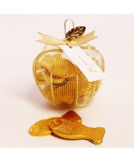 תפוח רשת מלא שוקולד בצורת דג לראש השנה