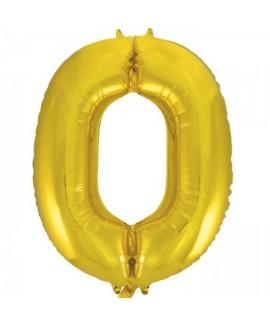 בלון ענק ספרה 0 זהב