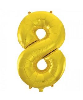 בלון ענק ספרה 8 זהב