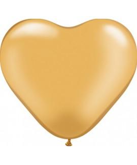 בלון גומי לב זהב