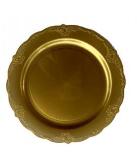 חבילת צלחות וינטג' זהב בינוניות