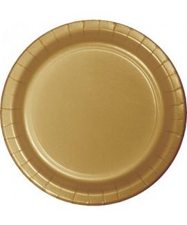 צלחות נייר גדולות זהב