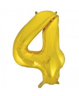 בלון ענק ספרה 4 זהב
