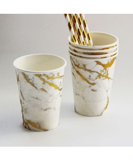 כוסות נייר בעיצוב שיש מהודר