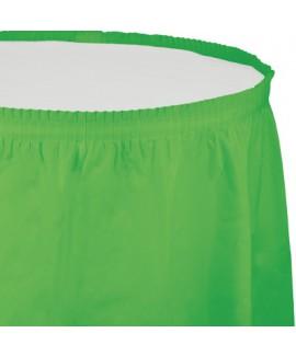 חצאית לשולחן ירוק בהיר