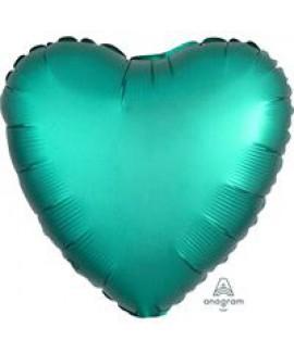 בלון אלומיניום לב טורקיז