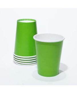 כוסות נייר צבע ירוק