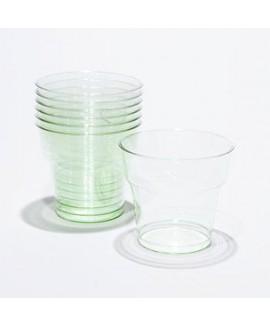 כוסות פלסטיק ירוק שקוף
