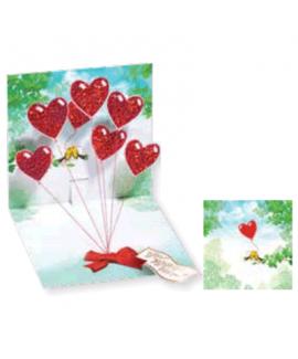 כרטיס ברכה לבבות