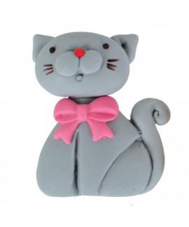 קישוט בצק סוכר - חתול אפור
