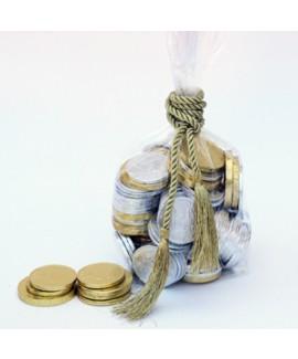 חצי קילו מטבעות שוקולד