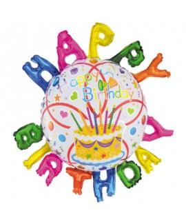 בלון הליום יום הולדת שמח גדול