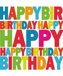 מפיות happy birthday צבעוניות