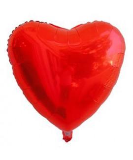 בלון אלומיניום לב אדום