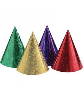 מארז כובעים בצבעי נאון הולוגרפי