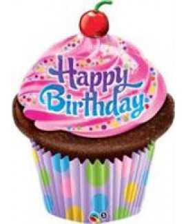 בלון Happy Birthday קאפ קייק ענק