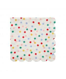 מפיות נקודות צבעוניות - Meri Meri