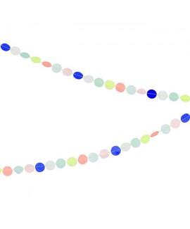 גרילנדת עיגולים צבעוניים קטנטנה - Meri Meri