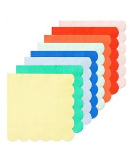 מפיות צבעוניות בצבעים שונים - Meri Meri